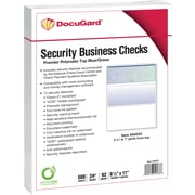 "Paris DocuGard® 8 1/2"" x 11"" 24 lbs. Standard Security Business Top Check Paper,Blue/Green,2500/Case"