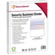 "Paris DocuGard® 8 1/2""x11"" 24 lbs. Standard Security Business Middle Check Paper,Blue/Red,2500/Case"