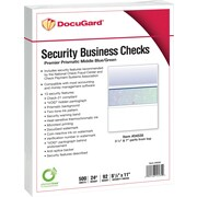 "Paris DocuGard® 8 1/2""x11"" 24lbs. Standard Security Business Middle Check Paper,Blue/Green,2500/Case"