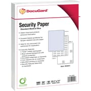 "Paris DocuGard® 8 1/2"" x 11"" 89 GSM Medical Security Paper, Blue, 2500/Case"