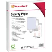 "Paris DocuGard® 8 1/2"" x 11"" 25 lbs. Medical Security Paper, Blue, 2500/Case"