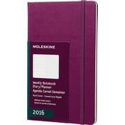 Moleskine 2016 Weekly Planner, 12M, Large, Mauve Purple, Hard Cover (5 x 8.25)