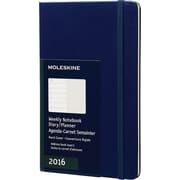 Moleskine 2016 Weekly Planner, 12M, Large, Royal Blue, Hard Cover (5 x 8.25)