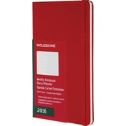 Moleskine 2016 Weekly Planner, 12M, Pocket, Scarlet Red, Hard Cover (3.5 x 5.5)