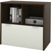 bestar i3 1 Drawer Lateral File, Dark Wood,Letter/Legal, 30.1''W (150633-78)