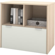 i3 by Bestar One Drawer Latereal File in Northern Maple and Sandstone