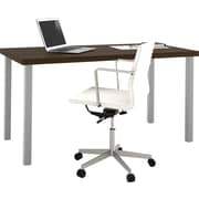 "i3 by Bestar 1.75"" Table with metal legs in Tuxedo and Sandstone"