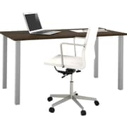 i3 by Bestar Table with metal legs in Tuxedo