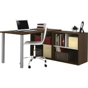 Bestar L-Shaped Desk, Tuxedo and Sandstone