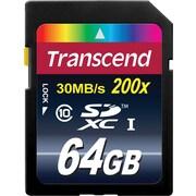 Transcend® Premium 64GB SDXC (Secure Digital Xtended-Capacity) Class 10 Flash Memory Card