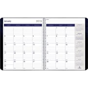 Academic Year 2016 DURAGLOBE Monthly Planner Black 8.875 x 7.125
