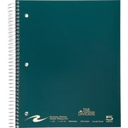 "Roaring Spring Paper Products 8 1/2"" x 11"", 5 Subject Notebook, Each"