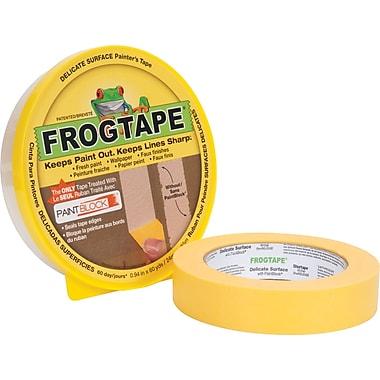 Ruban de peintre FrogTape® pour surfaces délicates, 0,94 po x 60 vg, jaune