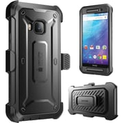 SUPCASE HTC One M9 Case, Unicorn Beetle Pro Rugged Holster Case, Black/Black