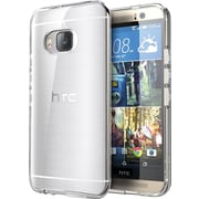 i-Blason HTC One M9 Case, Halo Scratch Resistant Hybrid Clear Case, Clear