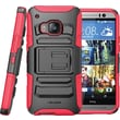 i-Blason HTC One M9 Case, Prime Dual Layer Holster Case,  Red