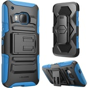 i-Blason HTC One M9 Case, Prime Dual Layer Holster Case, Blue