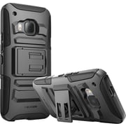 i-Blason HTC One M9 Case, Prime Dual Layer Holster Case, Black