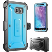 SUPCASE Samsung Galaxy S6 Case, Unicorn Beetle Pro Rugged Holster Case , Blue/Black