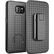 i-Blason Samsung Galaxy S6 Case ,Transformer Slim Hard Shell Holster Case, Black