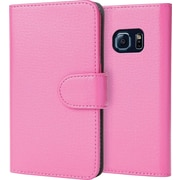 i-Blason Samsung Galaxy S6 Case, Leather Book Wallet Case, Pink
