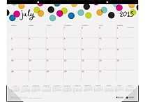July 2015 - June 2016 Blue Sky® Ampersand Designer Series Academic Year 22' x 17' Desk Pad