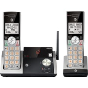 AT&T CL82215 2-Handset DECT 6.0 Expandable Cordless Phone with Answering System and Caller ID/Call Waiting, Silver/Black