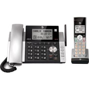 AT&T DECT 6.0 CL84115 1-Handset Expandable Cordless Phone with Answering System and Caller ID, Silver/Black