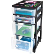 Staples® 4-Drawer Organizer with Plastic Organizer Top (116857)