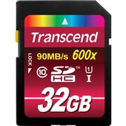 Transcend® Ultimate 32GB SDHC (Secure Digital High-Capacity) Class 10 (UHS-I) Flash Memory Card