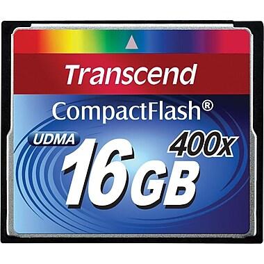 Transcend® Premium 16GB CF (CompactFlash) 400x Flash Memory Card