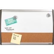 "Staples®, 11"" x 17"", Cork and Dry-Erase Magnetic Combination Board with Black/Silver Frame (28211-US)"