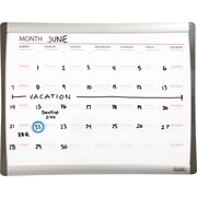 "Staples® Magnetic Dry-Erase Calendar Board, 1-Month Design, Black/Silver Frame, 11"" x 14"""