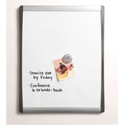 "Staples®, 8.5"" x 11"", Magnetic Steel Dry-Erase Board with Black and Silver Frame (28208-US)"