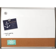 "Staples®, 17"" x 23"", Cork Magnetic Combination Board, Dry-Erase and Cork with Black/Silver Frame (28212-US)"