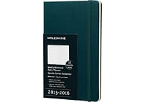 2015 - 2016 Moleskine Tide Green 18 Month Large Hard Cover Weekly Academic Planner