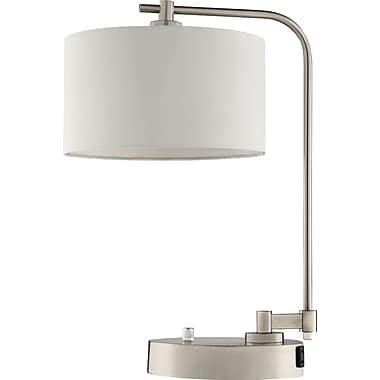TensorMD – Lampe de table avec abat-jour Downbridge et prise de courant