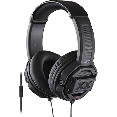 JVC Xtreme Xplosives Deep Bass Around-Ear Remote+Mic Stereo Headphone, Black