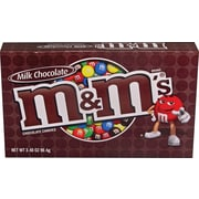 M&M's® Milk Chocolate Candies Concession Box, 3.4 oz. boxes 12 boxes/case