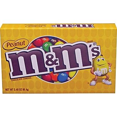 M&M's® Peanut Candy Concession Box, 3.4 oz. boxes 12 boxes/case