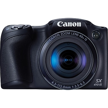 Canon PowerShot SX410 IS Digital Camera, 20.0 MP, 40x Optical Zoom, Black
