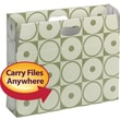 Smead MO® File Case, Holds up to 750 Sheets, Full-Height Sides, Letter Size, Moss Circles