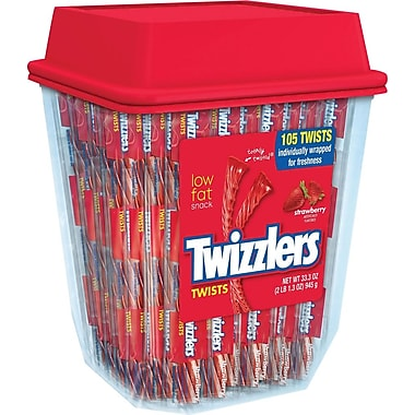 Twizzlers Strawberry Twists Canister (180 count), 57.5 oz.