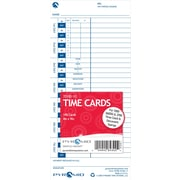 Pyramid 3000 Series Time Cards, 100 Pack, (35100-10)