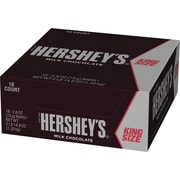 Hershey's Milk Chocolate Bar King Size, 2.6 oz., 18/Box