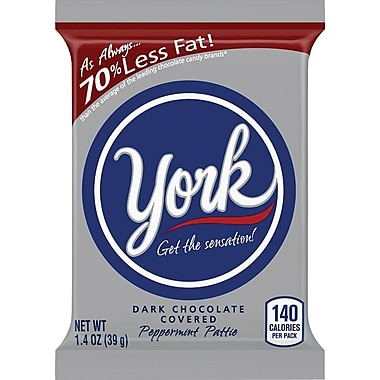York Peppermint Pattie, 1.4 oz., 36/Box