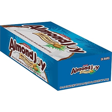 Almond Joy Bar, 1.61 oz., 36/Box