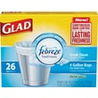 Glad® OdorShield® Trash Bags, Fresh Clean, White, 4 Gallon, 26 Bags/Box