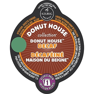 Donut House Decaf Light Roast K-Carafe K-Cup Refills