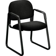 HON® Solutions Seating® Fabric Sled Base Guest Chair, Black (HON4008AB10T)